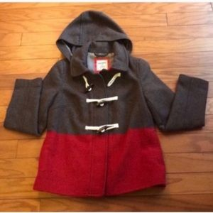 Old Navy Wool Blend Duffle Toggle Coat